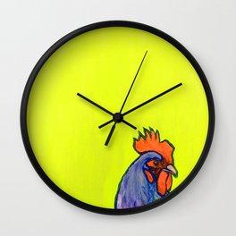 Neon Chicken Wall Clock