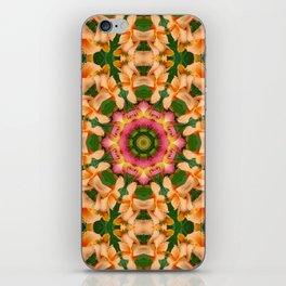 Daylily mandala 4 iPhone Skin