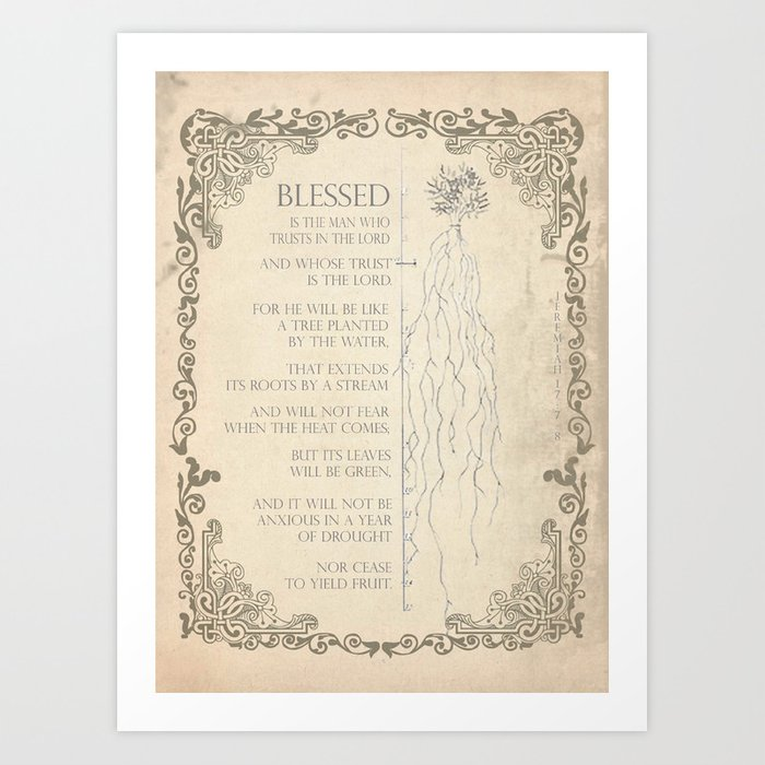 Blessed Is Art Print
