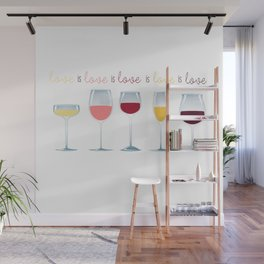 Love is Love is Love is Wine Wall Mural