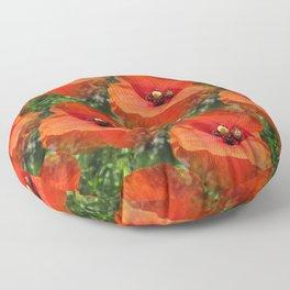 Poppy Power Floor Pillow