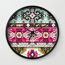 Fancy abstract geometric pattern in tribal style Wall Clock