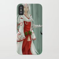 okami iPhone & iPod Cases featuring Okami - Amaterasu by Rinneii