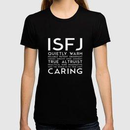 ISFJ (black version) T-shirt