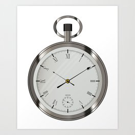 Silver Pocket Watch Art Print