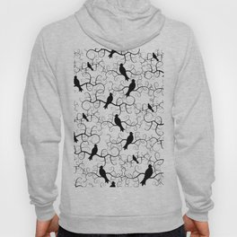 A Murder of Crows // Black and White Crows Hoody