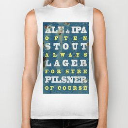 Beer always, vintage poster, metal texture background Biker Tank
