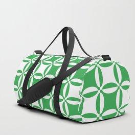 Geometry illusion in green Duffle Bag