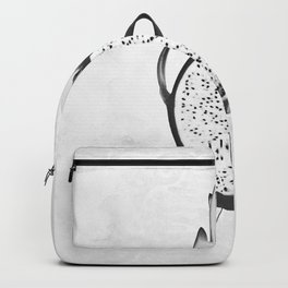 Black and White Dragon Fruit Backpack