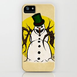 Sinister Snowman iPhone Case