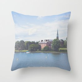 Morning in Annapolis Throw Pillow