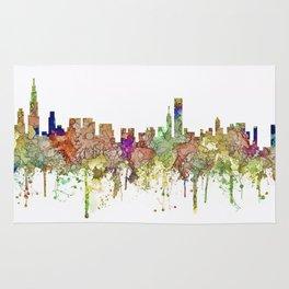 Chicago,Ilinois Skyline SG -Faded Glory Rug