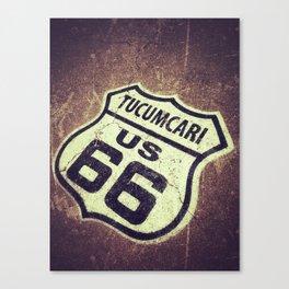 Route 66 sign in Tucumcari, New Mexico. Canvas Print