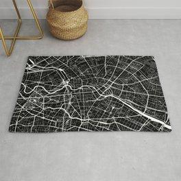 Berlin, Germany, City Map - Black Rug