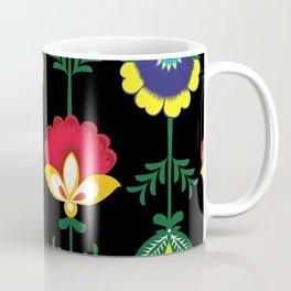 Colorful Ethnic Folk Flowers Coffee Mug