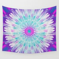 mandela Wall Tapestries featuring Mandela Feather 1 by Two Legged Monster Boutique