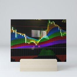 "Сandlestick chart with ""Rainbow"" indicator Mini Art Print"