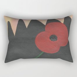 Dawn Poppy Rectangular Pillow