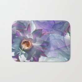 Purple Blossom Cactusina Bath Mat