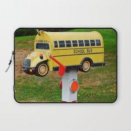 School Bus Mailbox Laptop Sleeve