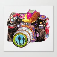 palm Canvas Prints featuring Picture This by Bianca Green