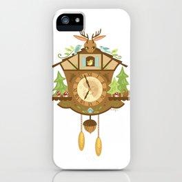 Woodland Cuckoo Clock iPhone Case