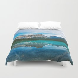 The Mountains and Blue Water - Nature Photography Duvet Cover