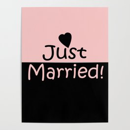 Just married! Pink Poster