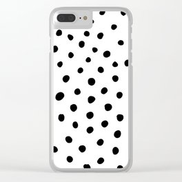 Painted Dots Clear iPhone Case