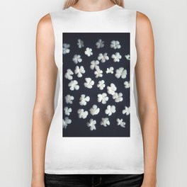 White petals 5 Biker Tank