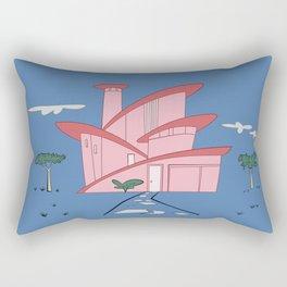 Pink Panther's Modern House Rectangular Pillow