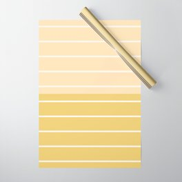 Two Tone Stripes - Yellow Wrapping Paper