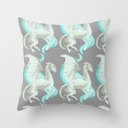 Fantastic beast white mythology creatures magical animals Throw Pillow
