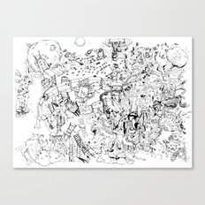 Fragments of dream Canvas Print