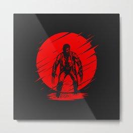 Red Logan Metal Print
