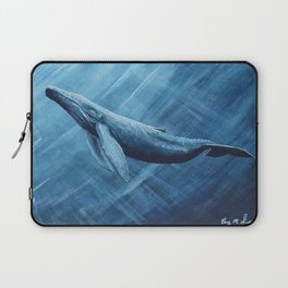 Watercolor Whale Laptop Sleeve