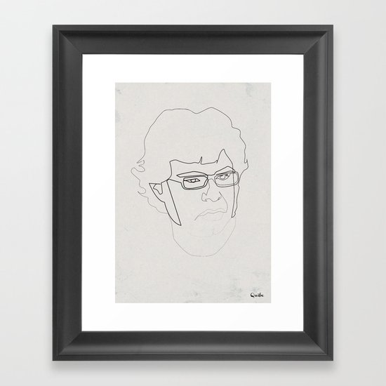 One Line Jemaine Clement 5Flight of the Conchords Framed Art Print