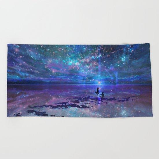 Ocean, Stars, Sky, and You Beach Towel