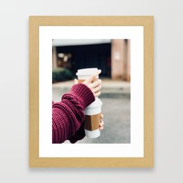Lattes Framed Art Print