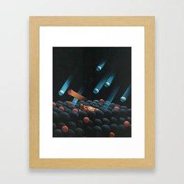 Cosmic Rays Framed Art Print