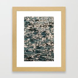 Chaotic Water Framed Art Print