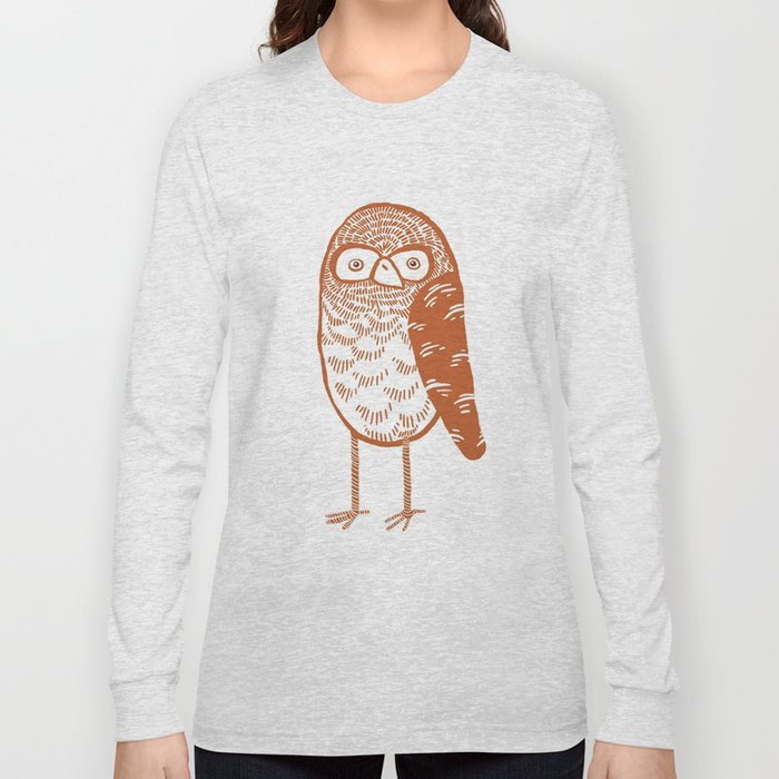 Neutral Owl Long Sleeve T-shirt