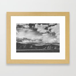 Red Rock Canyon, Las Vegas, Nevada. Mountain Black and White Photograph Framed Art Print
