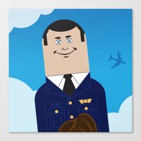 airplane Canvas Prints featuring Airplane by Brettmatic