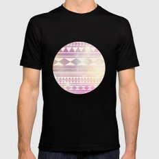 Galaxy Tribal Black Mens Fitted Tee LARGE