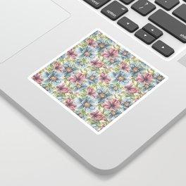 Hibiscus Vintage Pattern Sticker
