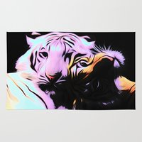 tigers Area & Throw Rugs featuring tigers by Emmy Winstead