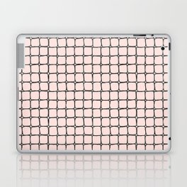 Back to School- Simple Grid Pattern - Black & Pink - Mix & Match with Simplicity of Life Laptop & iPad Skin