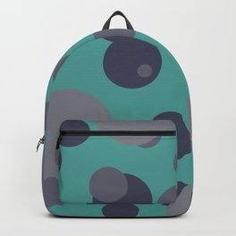 Bubbles grey - turquoise design Backpack