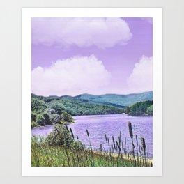 Lavendar Lakes And Purple Skies Art Print
